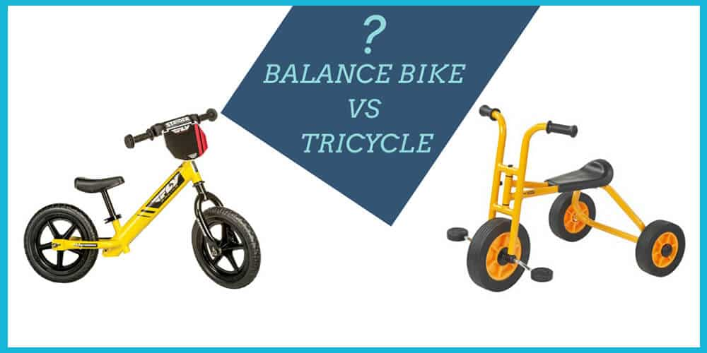 balance bike vs tricycle for toddler